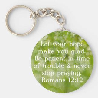 never stop praying bible verse key chain