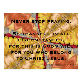 Never Stop Praying Postcard