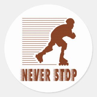 Never Stop: Rollerblading Sticker