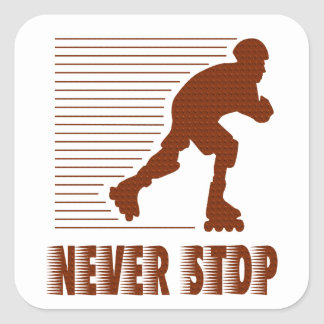 Never Stop: Rollerblading Stickers