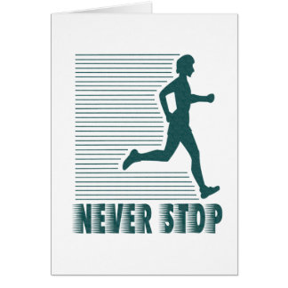 Never Stop: Running Greeting Card