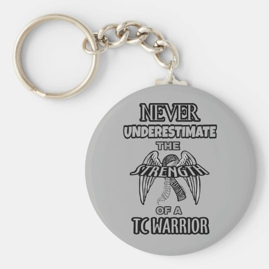 NEVER...TC Warrior Basic Round Button Key Ring