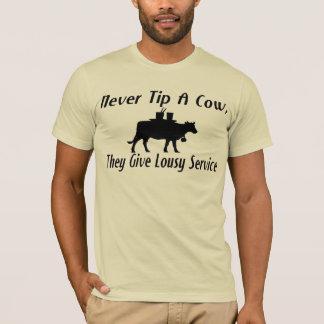 Never Tip A Cow T-Shirt
