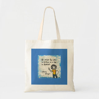 Never to Late Tote Budget Tote Bag