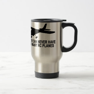 Never Too Many RC Planes T-Shirt.png Stainless Steel Travel Mug
