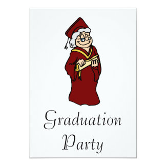 Never too old for a Diploma 13 Cm X 18 Cm Invitation Card
