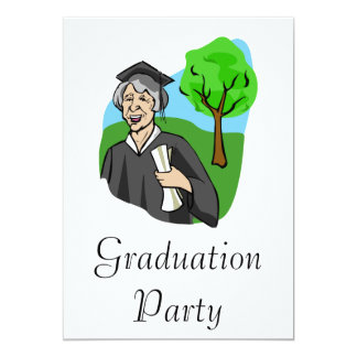 Never too Old - Graduate 13 Cm X 18 Cm Invitation Card