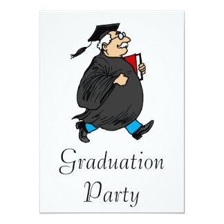 Never Too Old to Graduate 13 Cm X 18 Cm Invitation Card