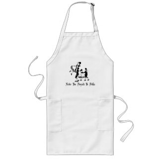 Never Too Pooped To Polka Long Apron