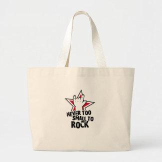 Never too small to rock jumbo tote bag