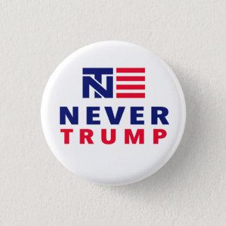 """NEVER TRUMP"" 1.25-inch 3 Cm Round Badge"