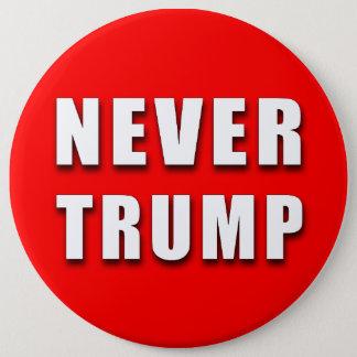 """NEVER TRUMP"" 6-inch 6 Cm Round Badge"