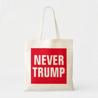 NEVER TRUMP BUDGET TOTE BAG