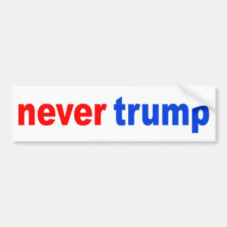 """never trump"" bumper sticker"
