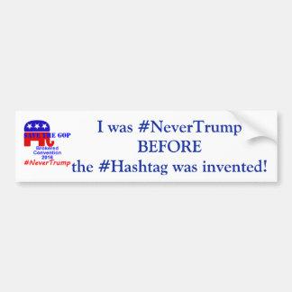 # Never Trump Bumper Sticker