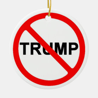 Never Trump Christmas Ornament