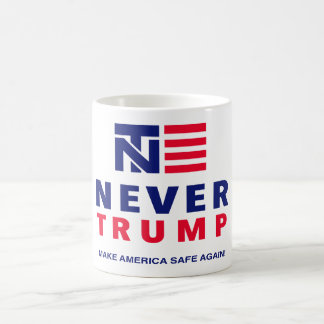 """NEVER TRUMP: MAKE AMERICA SAFE AGAIN!"" COFFEE MUG"