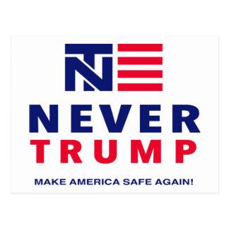 """NEVER TRUMP: MAKE AMERICA SAFE AGAIN!"" POSTCARD"
