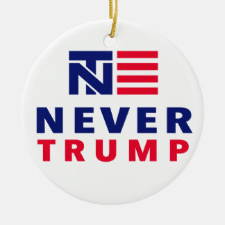 """NEVER TRUMP"" (singled-sided) Christmas Ornament"