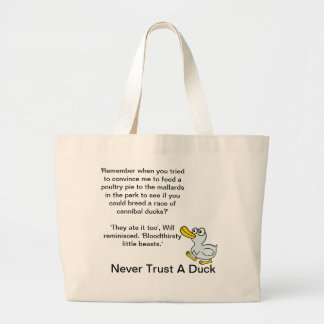 Never Trust A Duck - By Fans For Fans Canvas Bags