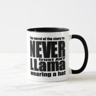 Never Trust a Llama in a Hat Mug