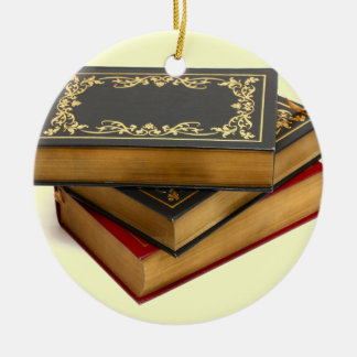 Never trust anyone who has not brought a book christmas ornament