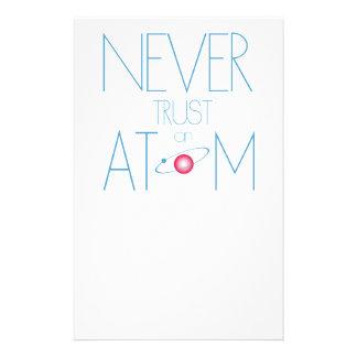 Never trust atom flyer