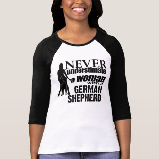 Never Underestimate a Woman with a German Shepherd Tees