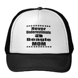 Never Underestimate Beagle Mom Cap