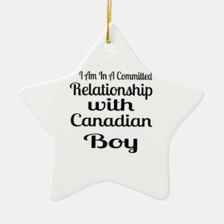 Never Underestimate Canadian Daddy Ceramic Star Decoration