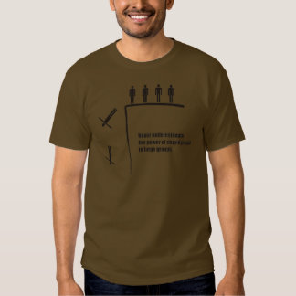 Never underestimate power of stupid people groups tshirt