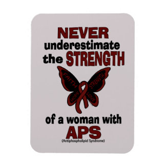 Never Underestimate...Woman/Butterfly...APS Rectangular Photo Magnet
