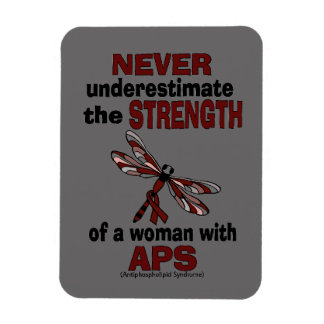 Never Underestimate...Woman/Dragonfly...APS Magnet