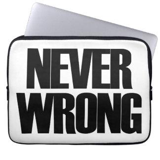 Never Wrong Laptop Computer Sleeve