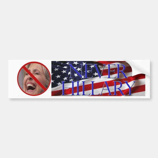 #NEVERHILLARY Bumper Sticker