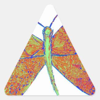 Neverland's Heart Butterfly Triangle Sticker