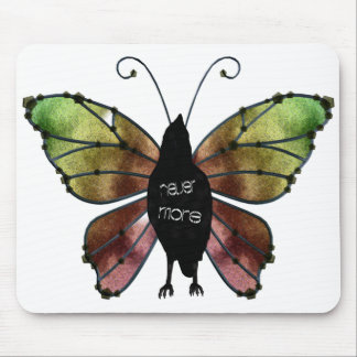 Nevermore Butterfly Raven Mouse Pads