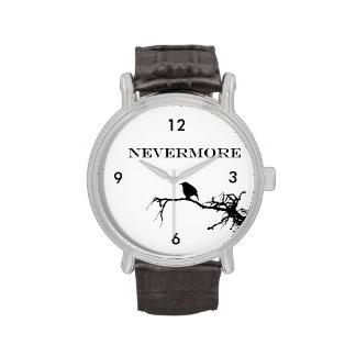 Nevermore Raven Edgar Allan Poe Design Watches