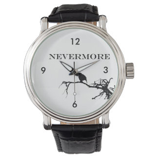 Nevermore Raven Edgar Allan Poe Design Watch