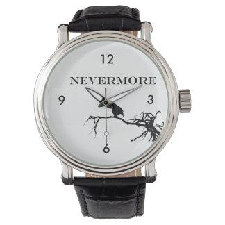 Nevermore Raven Edgar Allan Poe Design Wrist Watches