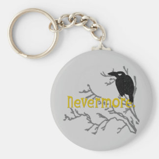 Nevermore Raven Key Ring
