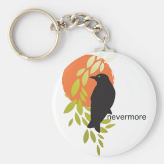 Nevermore - Raven & Moon by Poe Key Ring