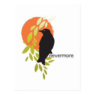 Nevermore - Raven & Moon by Poe Postcard