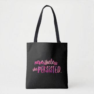Nevertheless She Persisted All-Over-Print Tote Bag