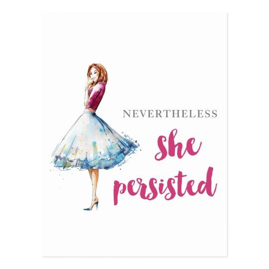 Nevertheless She Persisted Fabulous Gal Postcard