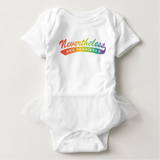 Nevertheless, she persisted. One piece Tutu Baby Bodysuit