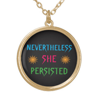 Nevertheless She Persisted Rainbow Sun Necklace