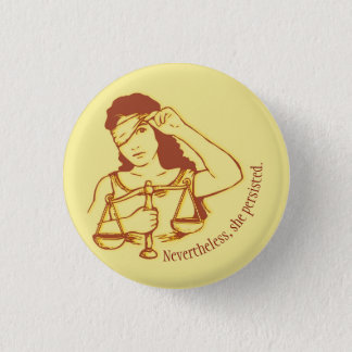 Nevertheless, she persisted (yellow) button