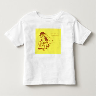 Nevertheless, she persisted (yellow) (toddler) toddler T-Shirt