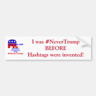 #NeverTrump Bumper Sticker